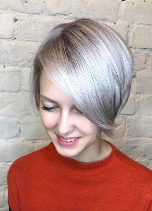 55 Short Hairstyles For Women With Thin Hair | Fashionisers© Intended For Most Recently Wavy Asymmetrical Pixie Haircuts With Pastel Red (View 23 of 26)