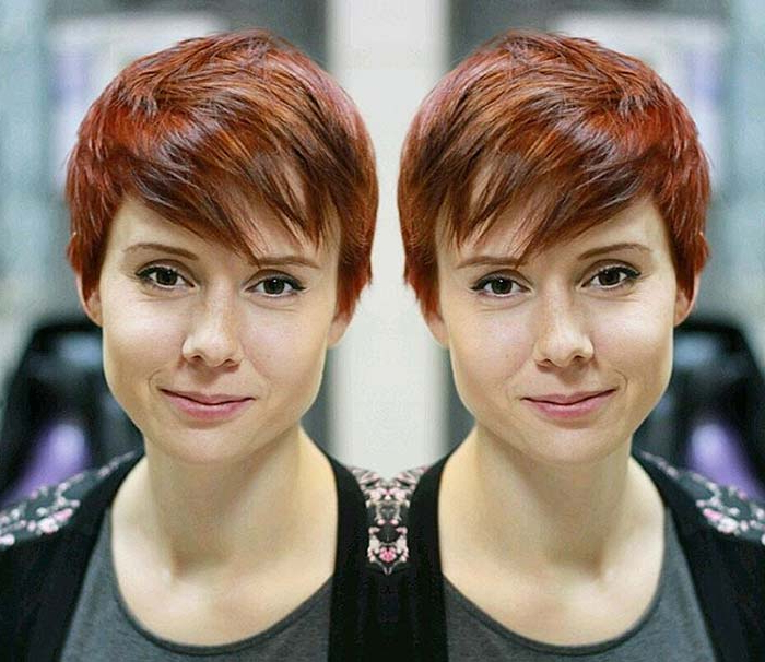 55 Short Hairstyles For Women With Thin Hair | Fashionisers© Regarding Most Up To Date Wavy Asymmetrical Pixie Haircuts With Pastel Red (View 22 of 26)