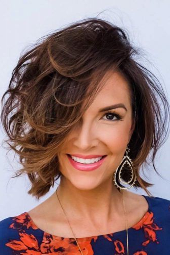 55 Stylish Layered Bob Hairstyles   Lovehairstyles Regarding Jagged Bob Hairstyles For Round Faces (View 24 of 25)
