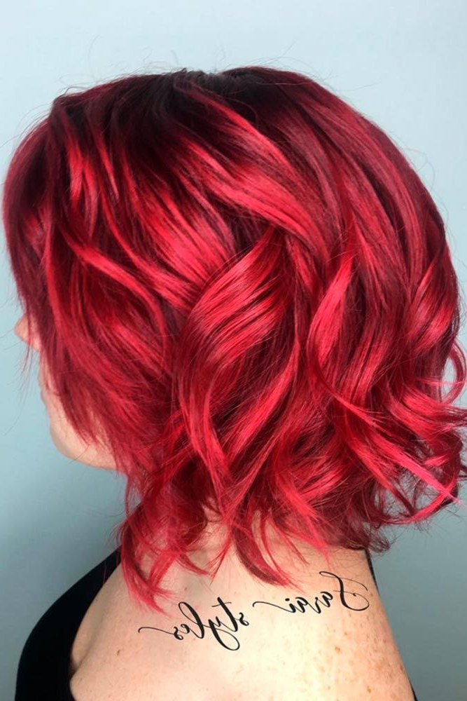 55 Versatile Medium Bob Haircuts To Try | Short Red Hair With Regard To Bright Red Bob Hairstyles (View 14 of 25)