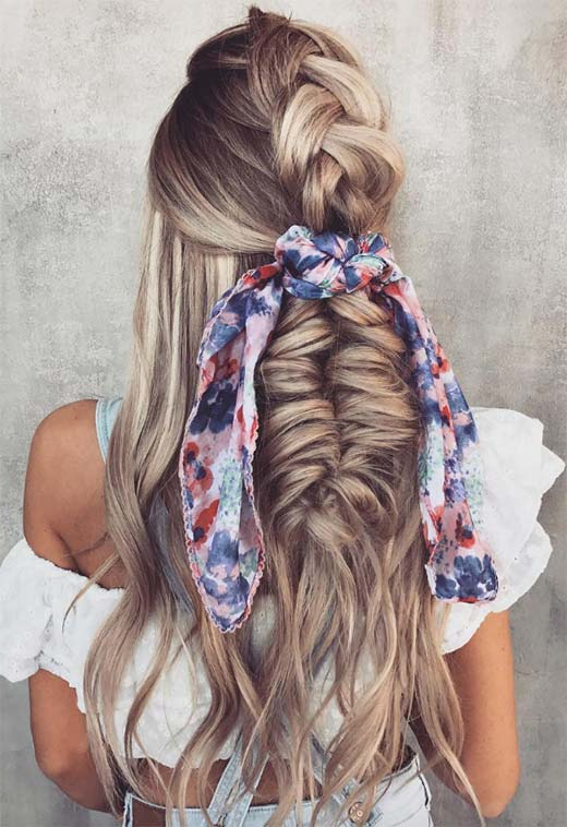 57 Amazing Braided Hairstyles For Long Hair For Every With Recent Loosely Tied Braid Hairstyles With A Ribbon (View 7 of 25)
