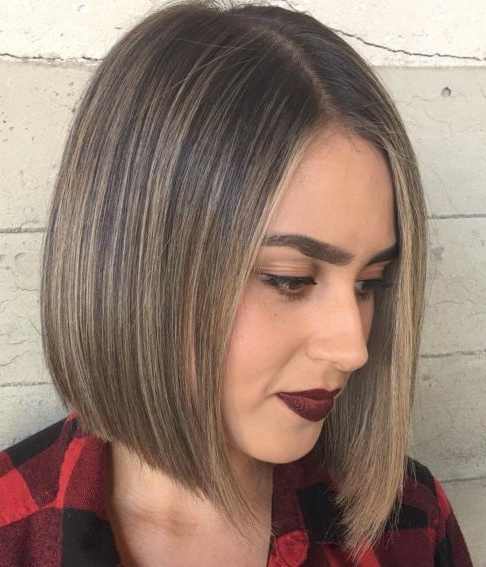 60 Beautiful And Convenient Medium Bob Hairstyles   Bobs In For Sleek Blunt Bob Hairstyles (View 2 of 25)