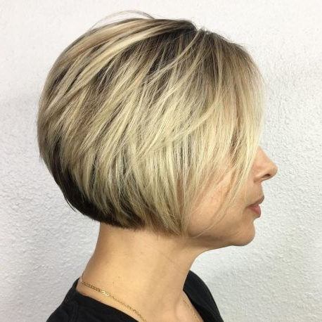 60 Best Short Bob Haircuts And Hairstyles For Women   Blonde Regarding Short Feathered Bob Crop Hairstyles (View 4 of 25)
