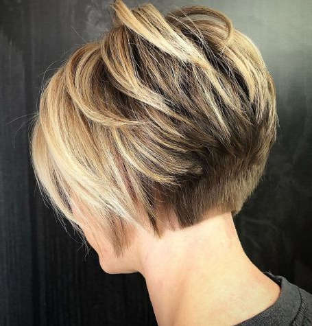 60 Classy Short Haircuts And Hairstyles For Thick Hair Regarding Short Choppy Layers Pixie Bob Hairstyles (View 8 of 25)