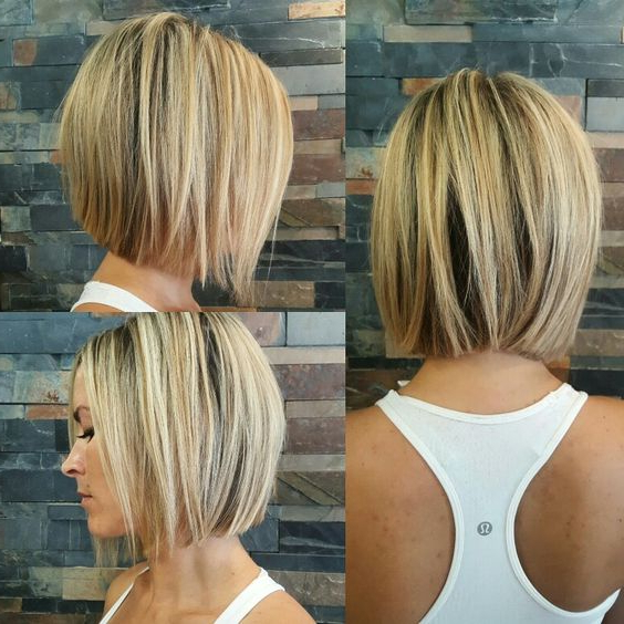 60 Hottest Bob Hairstyles For Everyone! (Short Bobs, Mobs Throughout One Length Short Blonde Bob Hairstyles (View 15 of 25)
