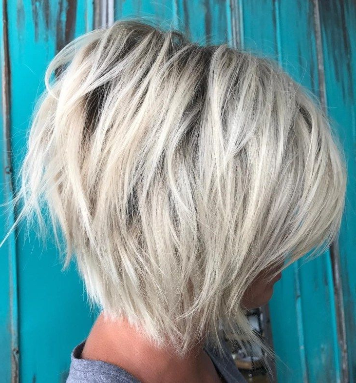 60 Most Beneficial Haircuts For Thick Hair Of Any Length Intended For Sassy Angled Blonde Bob Hairstyles (View 6 of 25)