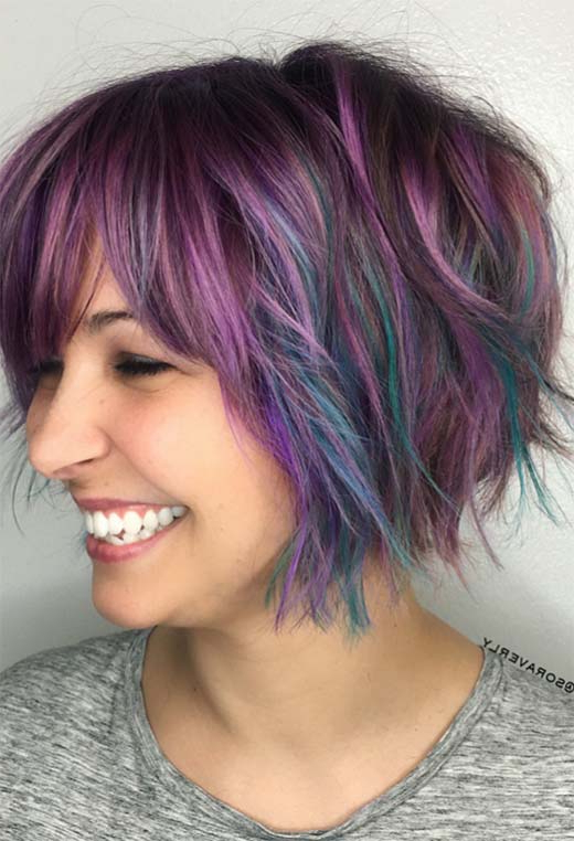 61 Cute Short Bob Haircuts: Short Bob Hairstyles For 2020 Inside Modern Bob Hairstyles With Fringe (View 25 of 25)