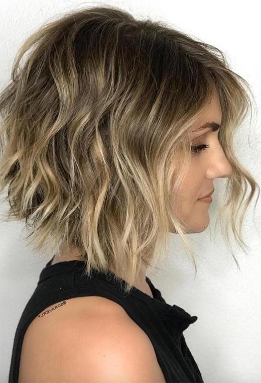 61 Cute Short Bob Haircuts: Short Bob Hairstyles For 2020 Inside Short Feathered Bob Crop Hairstyles (View 19 of 25)