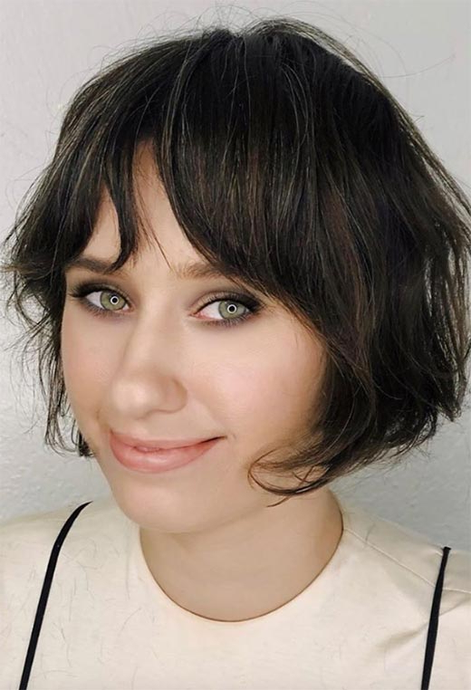 61 Cute Short Bob Haircuts: Short Bob Hairstyles For 2020 Intended For Ear Length French Bob Hairstyles (View 10 of 25)