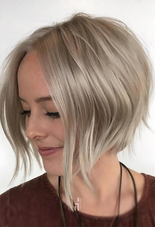 61 Cute Short Bob Haircuts: Short Bob Hairstyles For 2020 Intended For Textured And Layered Graduated Bob Hairstyles (View 9 of 26)