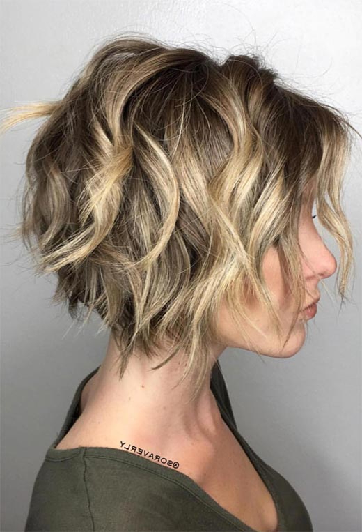 61 Cute Short Bob Haircuts: Short Bob Hairstyles For 2020 Pertaining To Ombre Piecey Bob Hairstyles (View 17 of 25)