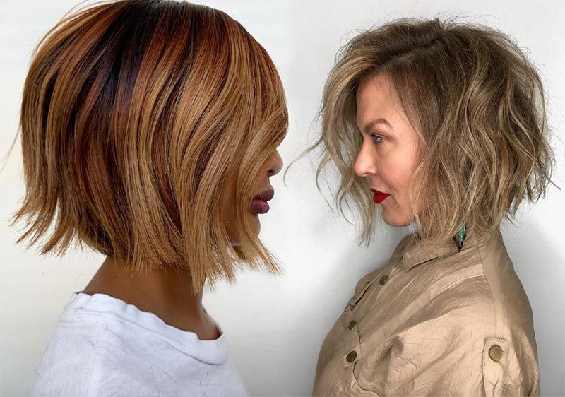 61 Cute Short Bob Haircuts: Short Bob Hairstyles For 2020 Pertaining To Ombre Piecey Bob Hairstyles (View 16 of 25)