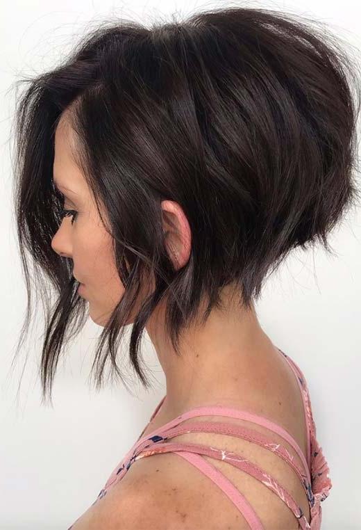 61 Cute Short Bob Haircuts: Short Bob Hairstyles For 2020 With Regard To Voluminous Bob Hairstyles (View 10 of 25)