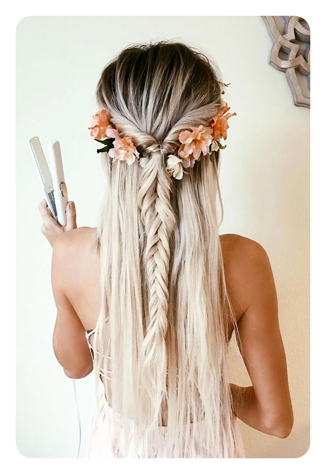 66 Boho Hairstyles For Curly And Straight Hair – Style Easily With Latest Loosely Tied Braid Hairstyles With A Ribbon (View 11 of 25)