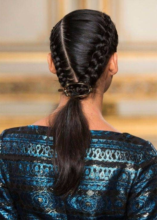7+ Wonderful Women Hairstyles Color Bangs Ideas | Braided intended for Most Recently Asymmetrical French Braid Hairstyles