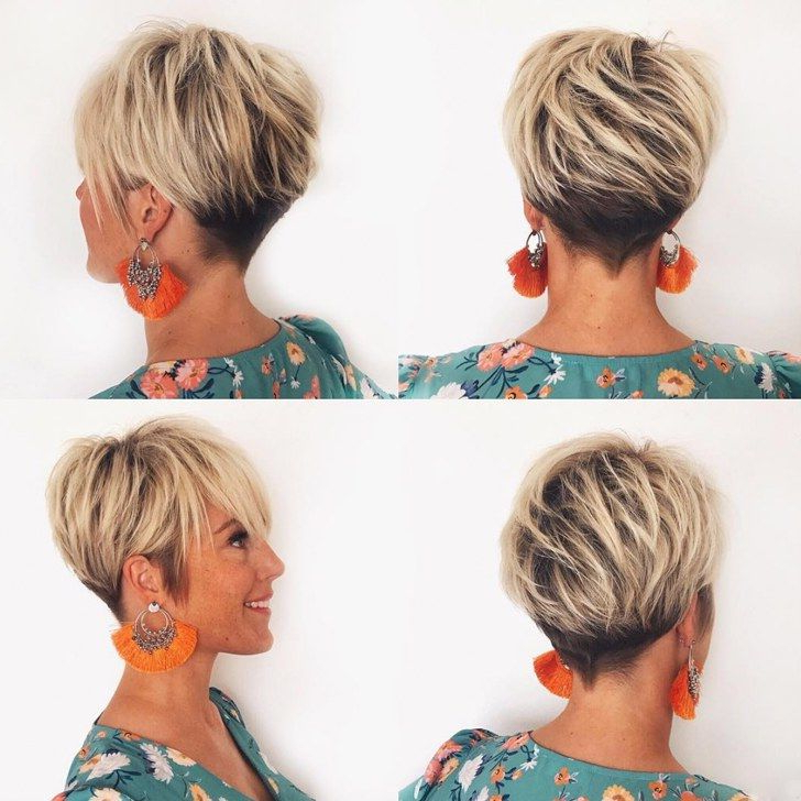 70 Best Short Hairstyles And Short Haircuts Ideas For 2018 in Current Metallic Short And Choppy Pixie Haircuts