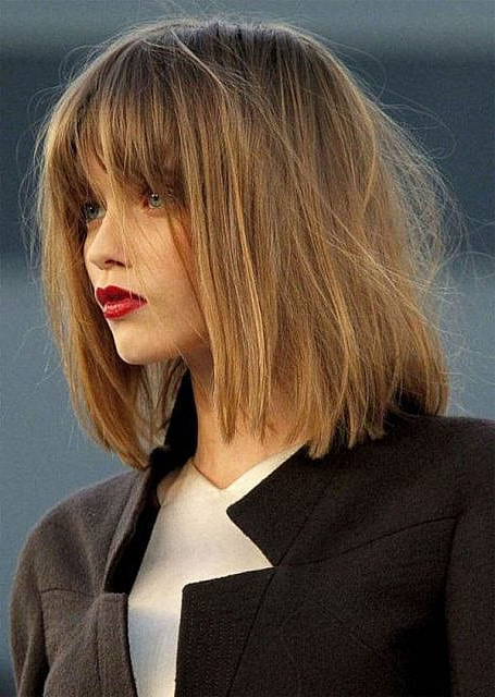 70 Stylish Bob And Lob Haircuts For You To Copy - The Trend with regard to Wispy Bob Hairstyles With Long Bangs