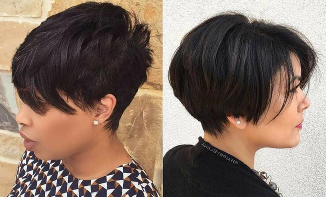 71 Best Short And Long Pixie Cuts We Love For 2019 | Stayglam within Most Current Dark Pixie Haircuts With Blonde Highlights