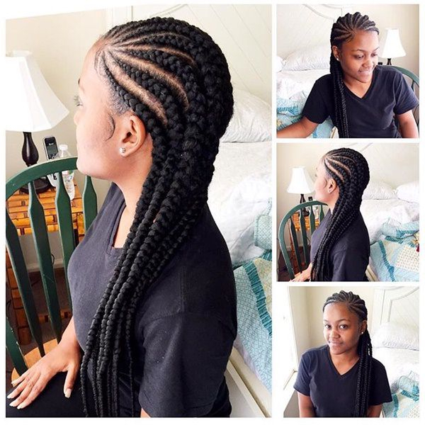 80 Amazing Feed In Braids For 2020 in Latest Straight-Backs Braids Hairstyles
