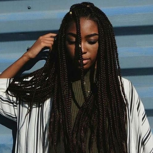 80 Gorgeous Box Braids Styles For Every Occasion - My New with Newest Side Part Voluminous Braid Hairstyles