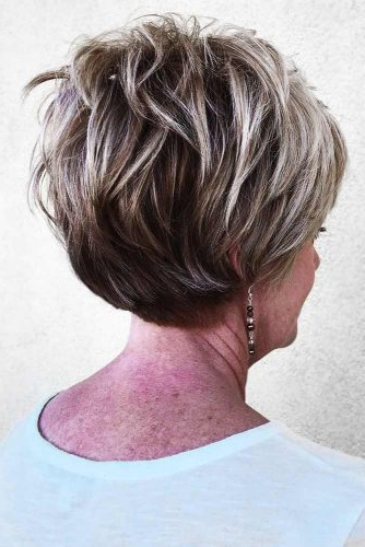 85 Incredibly Beautiful Short Haircuts For Women Over 60 for Short Feathered Bob Crop Hairstyles