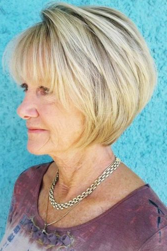 85 Incredibly Beautiful Short Haircuts For Women Over 60 within Cute Round Bob Hairstyles For Women Over 60
