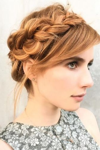 9 Heavenly Halo Braided Hairstyles (For Prom, Weddings & For Regarding Most Up To Date Updo Halo Braid Hairstyles (View 22 of 25)