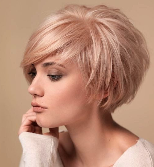 93 Of The Best Hairstyles For Fine Thin Hair For 2019 Regarding One Length Short Blonde Bob Hairstyles (View 20 of 25)