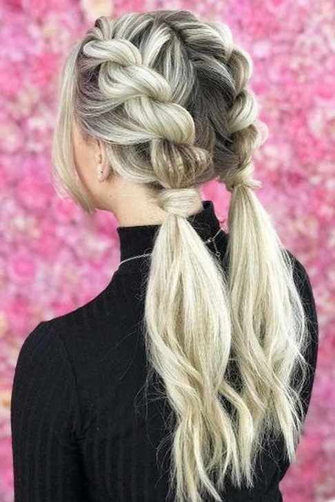 99 Creative Brown Hairstyles Ideas For Summer | Hair | Hair Within Current Billowing Ponytail Braid Hairstyles (View 8 of 25)