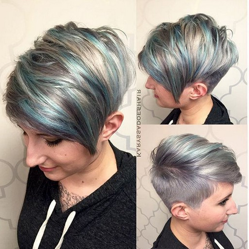 Adorable Pixie Haircut Ideas With Bangs – Popular Haircuts In Most Current Silver Pixie Haircuts With Side Swept Bangs (View 6 of 25)