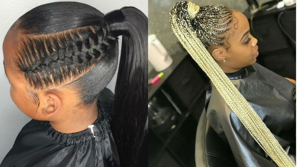 Amazing Feed In Braids In A Ponytail Compilation Braid Styles With Latest Ponytail Braid Hairstyles (View 15 of 25)