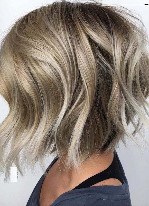 Amazing Textured Bob Haircuts For Women In 2018 | Wavy Bob Pertaining To Textured And Layered Graduated Bob Hairstyles (View 7 of 26)