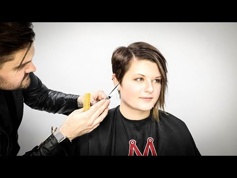 Asymmetrical Pixie Haircut Tutorial | Matt Beck Vlog S2 E13 Pertaining To Most Current Wavy Asymmetrical Pixie Haircuts With Pastel Red (View 16 of 26)