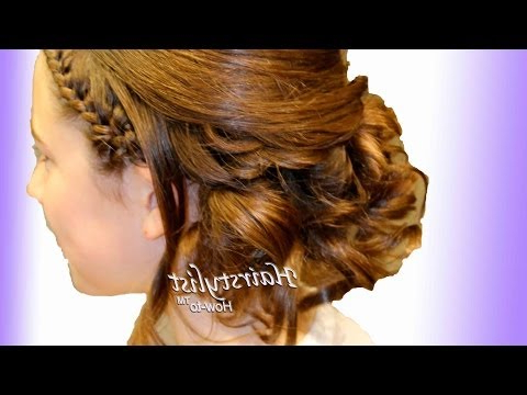 Asymmetrical Updo With Headband And Wrap Around French Pertaining To Best And Newest Asymmetrical French Braid Hairstyles (View 19 of 25)