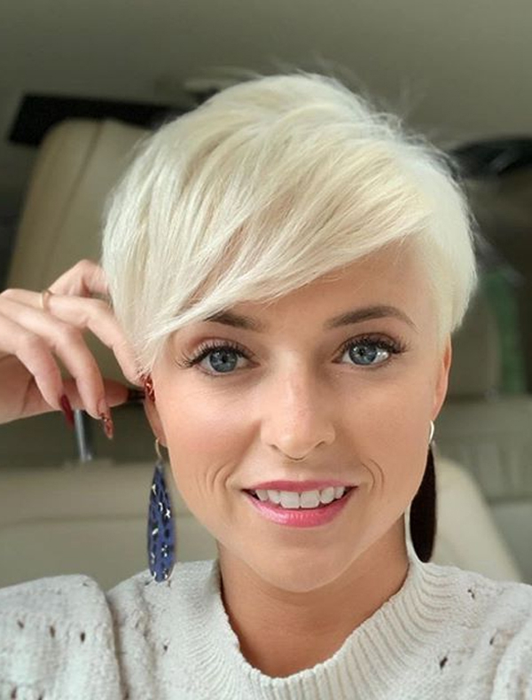 Awesome Platinum Blonde Pixie Haircuts To Wear Nowadays Pertaining To Most Up To Date Blonde Pixie Haircuts (View 5 of 25)