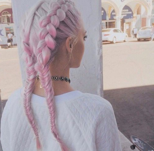 Baby Pink And Blonde Grunge Hair Colour – Absolutely Love Within Most Current Baby Pink Braids Hairstyles (View 5 of 25)