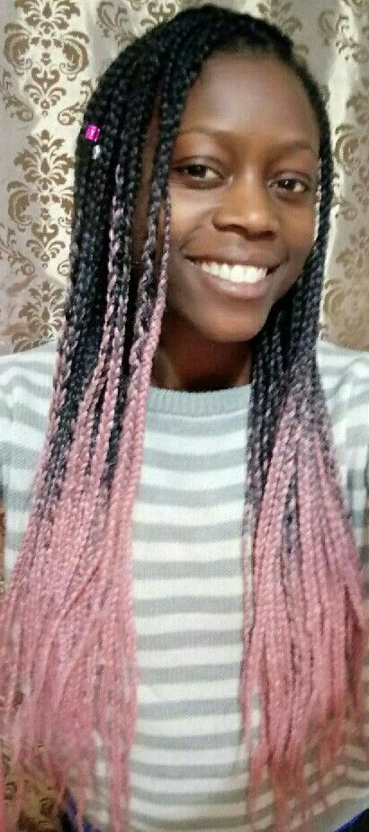 Baby Pink Box Braids! Get Your Braiding Hair From Www Throughout Latest Baby Pink Braids Hairstyles (View 2 of 25)