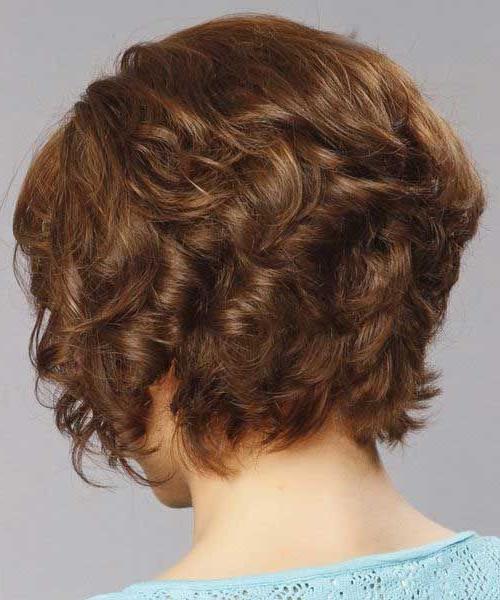 Back View Of Short Bob Haircuts   Short Curly Haircuts Pertaining To Cute Short Curly Bob Hairstyles (View 22 of 25)