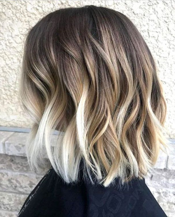 Beach Waves Short Hair #ombrehairblonde | Chic Short Hair For Beach Wave Bob Hairstyles With Highlights (View 6 of 25)