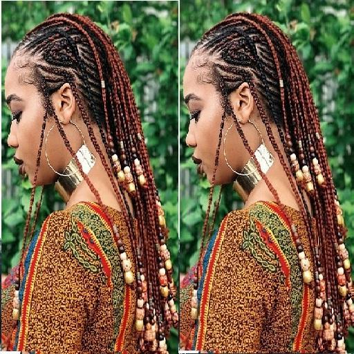 Beads Braids Hairstyles For Android – Apk Download In 2020 Beaded Braids Hairstyles (View 22 of 25)