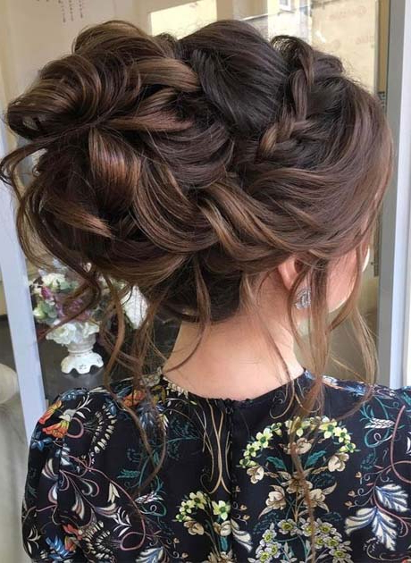 Beautiful Crown Braided With Messy Updo Bridal Hairstyle With Regard To Newest Messy Crown Braid Hairstyles (View 23 of 25)
