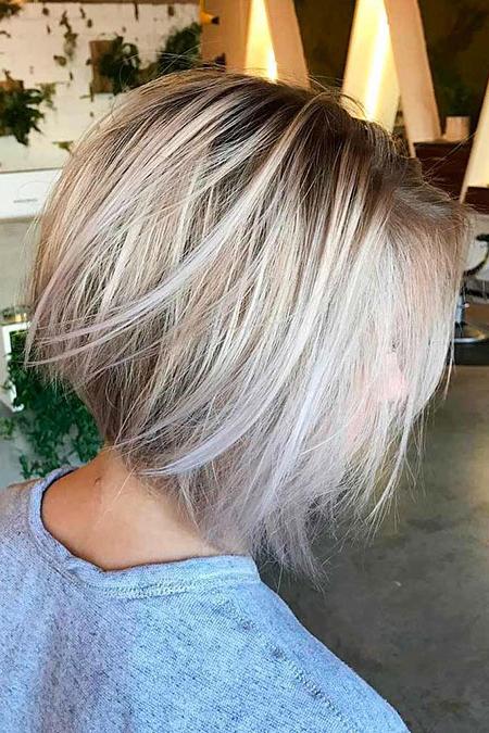 Beautiful Stacked Bob Haircuts 2017 | Bob Hairstyles 2018 Within Sassy Angled Blonde Bob Hairstyles (View 12 of 25)