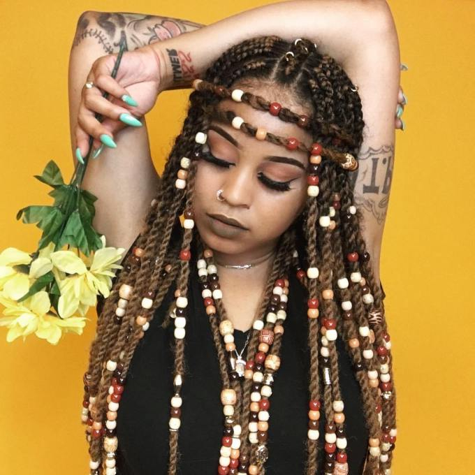 Beauty: Loving Beaded Braid Hairstyles Just For You – Arieznaija In Best And Newest Beaded Braids Hairstyles (View 13 of 25)
