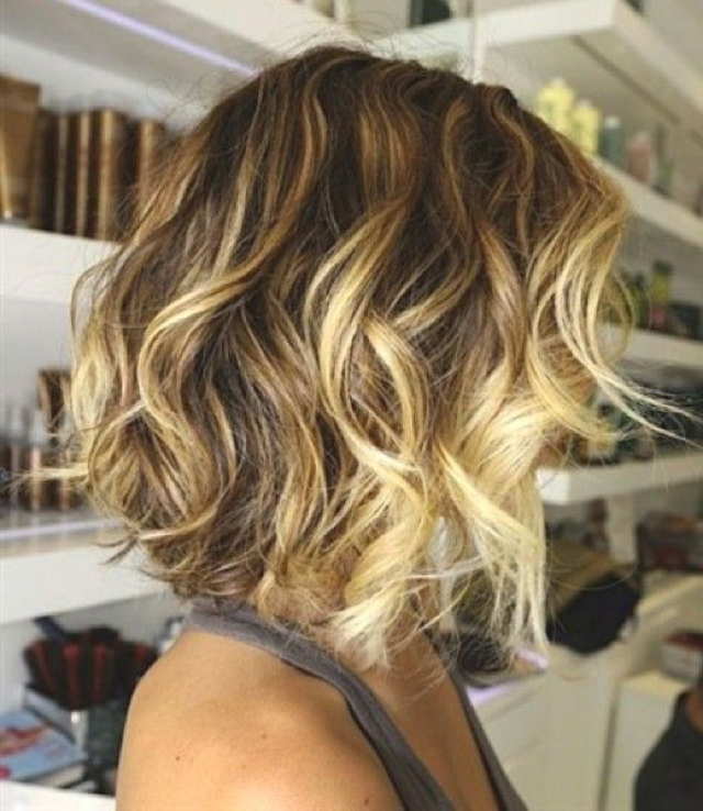 Best Beach Wave Bob Hairstyles Inspiration Hair Ideas Inside Beach Wave Bob Hairstyles With Highlights (View 4 of 25)