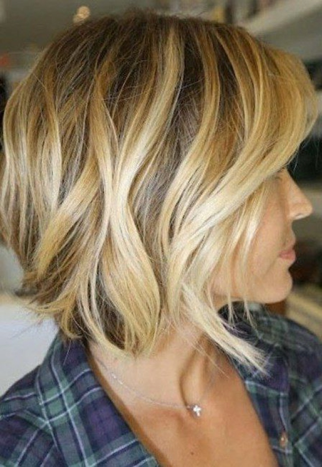 Best Beach Wave Bob Hairstyles Inspiration Hair Ideas Intended For Beach Wave Bob Hairstyles With Highlights (View 16 of 25)