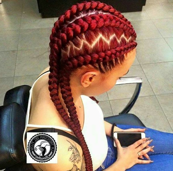 Best Ghana Braids Hairstyles Ideas (Trending In January 2020) Throughout Most Recent Zig Zag Braids Hairstyles (View 8 of 25)