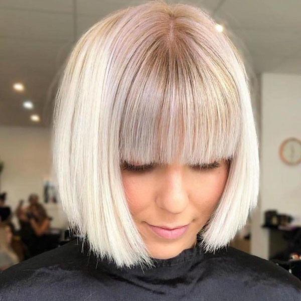 Best New Bob Hairstyles 2019 | Short Hair With Bangs, Bob Regarding Blonde Undercut Bob Hairstyles (View 3 of 25)