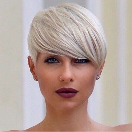 Best New Short Hair With Side Swept Bangs   Short Hair With 2018 Silver Pixie Haircuts With Side Swept Bangs (View 9 of 25)