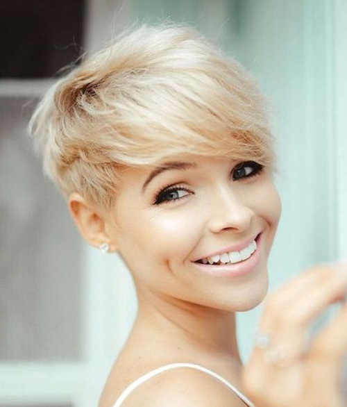 Best Pixie Cuts For Blonde Hair | Short Haircut Inside Best And Newest Blonde Pixie Haircuts (View 4 of 25)