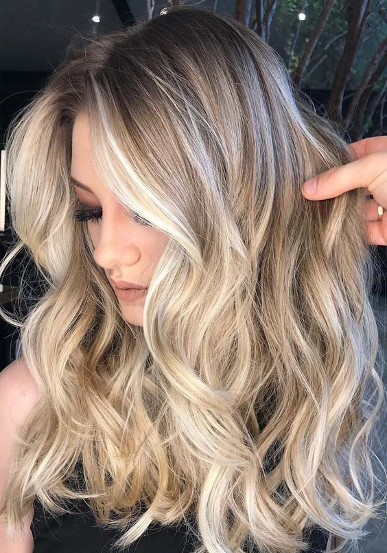 Best Shadow Rooted Balayage Ombre Highlights In Year 2019 Regarding Recent Long Undercut Hairstyles With Shadow Root (View 24 of 25)